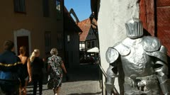 Tourists in Visby, Gotland Stock Footage