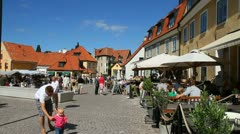 Visby, Gotland Stock Footage