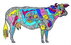 Cow Illustration - stock illustration