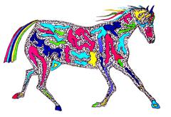 Horse Illustration - stock illustration