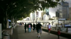 Stock Video Footage of Australia - Southbank crowds