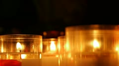 Stock Video Footage of Illuminated candles in a church