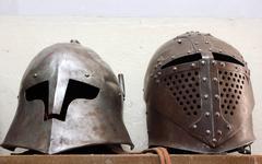 Armour helmets Stock Photos