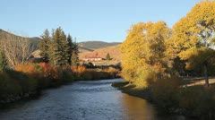 Wind River, Autumn, Sunrise beautiful landscape, Dubois Wyoming, relaxing sound Stock Footage