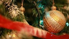 Christmas decoration (pan) Stock Footage