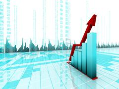business graph - stock illustration