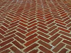 Vintage red brick wall, architecture details Stock Photos