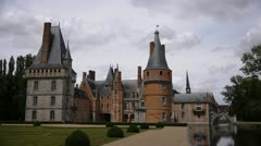 Castle in France, Chateau de Maintenon Stock Footage
