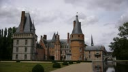 Stock Video Footage of Castle in France, Chateau de Maintenon