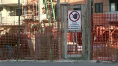 Italy - building site Stock Footage
