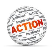 action sphere - stock illustration