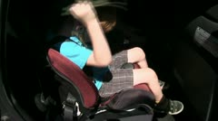 child carseat,  - stock footage