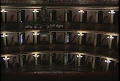 Teatro Amazonas Int Balconies Wide Shot Stock Footage