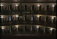 Stock Video Footage of Teatro Amazonas Int Balconies Wide Shot