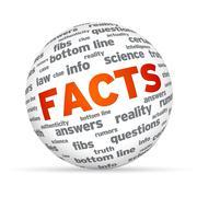 facts sphere - stock illustration