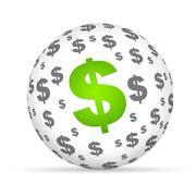 Dollar sign sphere Stock Illustration