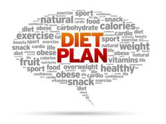 Diet plan Stock Illustration