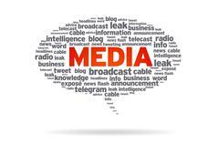Speech bubble - media Stock Illustration