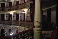 Teatro Amazonas Int Pan WS Stock Footage