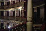 Stock Video Footage of Teatro Amazonas Int Pan WS