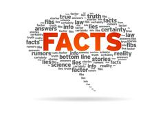 Speech bubble - facts Stock Illustration