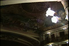 Teatro Amazonas Int Dome Ceiling Wide Shot Stock Footage