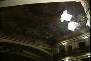 Stock Video Footage of Teatro Amazonas Int Dome Ceiling Wide Shot