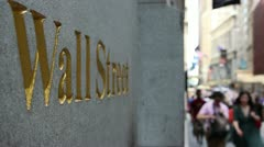 wall street wall - stock footage