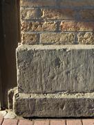corner stone - stock photo