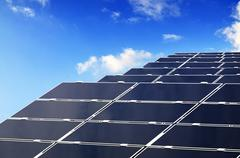 solar parc - stock photo