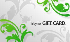 Stock Illustration of green flower giftcard
