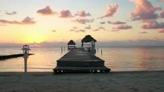 Awesome Beach Sunrise Timelapse Stock Footage