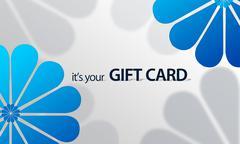 Stock Illustration of blue flower giftcard