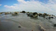 Beach shore Stock Footage