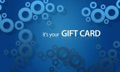 blue object giftcard - stock illustration