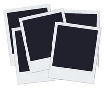 Five polaroids Stock Photos