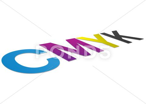 Stock Illustration of perspective cmyk sign