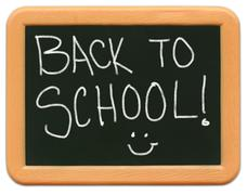 Child's Mini Chalkboard - Back to School Stock Photos