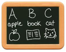 Child's Mini Chalkboard - ABC - stock photo