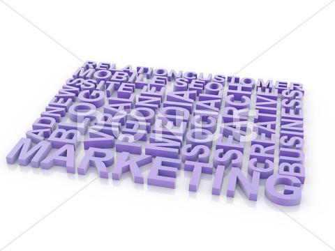 Stock Illustration of what is a marketing. the concept of the words on white isolated background. 3