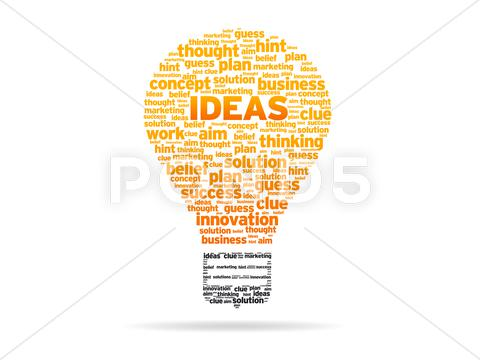 Stock Illustration of words - ideas