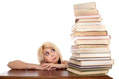 Student overworked Stock Photos