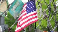 Oklahoma City Memorial Fence Stock Footage