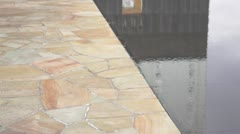 Oklahoma City Memorial Reflecting Pool Stock Footage