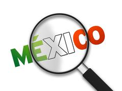 Magnifying glass - mexico Stock Illustration