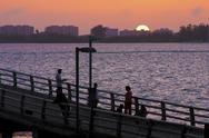 Pier at Sunset 001 Stock Photos