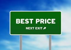 Stock Illustration of best price highway sign