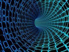 binary code data digital background - stock illustration