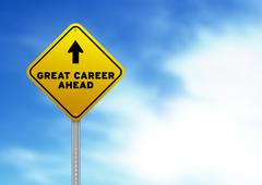 Great career ahead road sign Stock Illustration