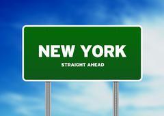 new york highway  sign - stock illustration